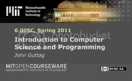 MIT Introduction to Computer Science and Programming Using Python 2011