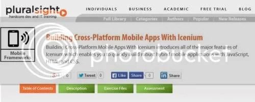Pluralsight - Building Cross-Platform Mobile Apps With Icenium