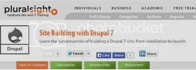 Pluralsight - Site Building with Drupal 7 (2014)