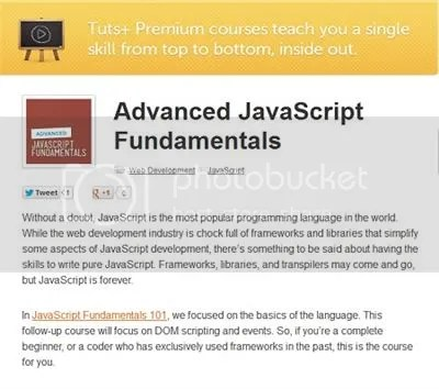 Tuts+ Premium - Advanced JavaScript Fundamentals