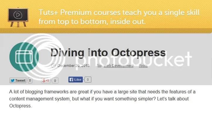 Tuts+ Premium - Diving into Octopress