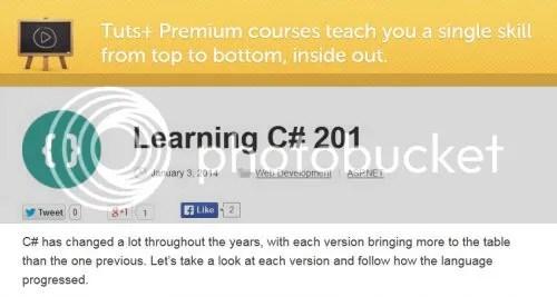 Tuts+ Premium - Learning C# 201