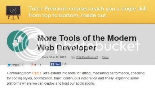 Tuts+ Premium - More Tools of the Modern Web Developer