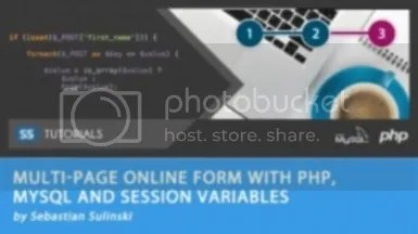 Udemy - Multi page online form with PHP, MySQL and Session Variables
