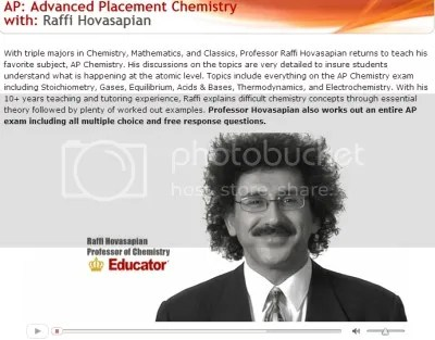 Educator - Advanced Placement Chemistry with Raffi Hovasapian