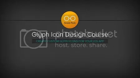 Glyph Icon Design Course with Photoshop