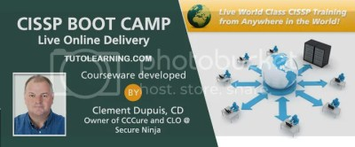 CISSP Training Course Dublin Led by Clement Dupuis 5 Day Boot Camp