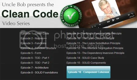 Clean Coders – Clean Code Video Series: Episode 1-18