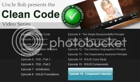 Clean Coders – Clean Code Video Series: Episode 1-18