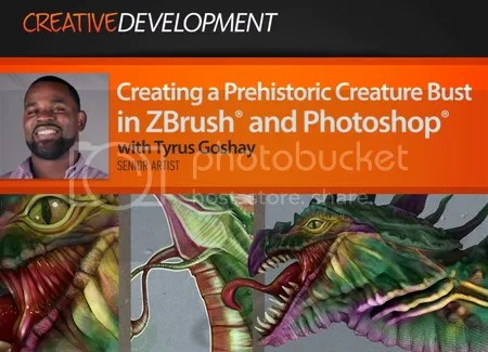 Digital Tutors – Creating a Prehistoric Creature Bust in ZBrush and Photoshop