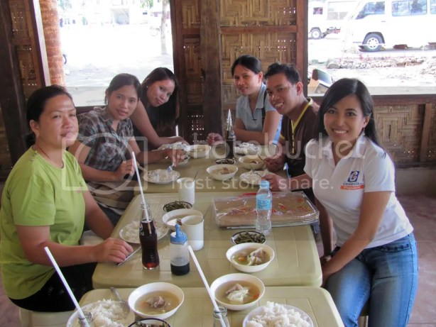 Lunch with the trainees.