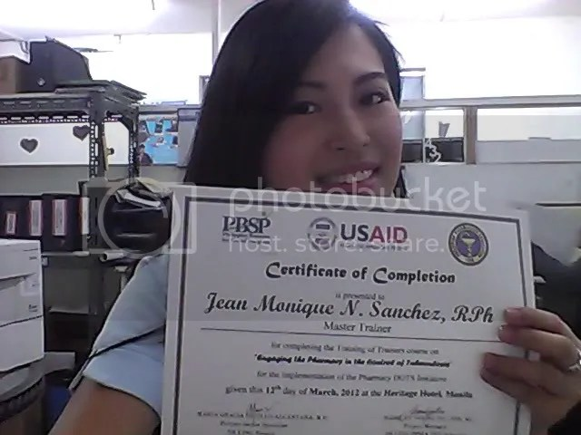 Me With Certificate of Completion
