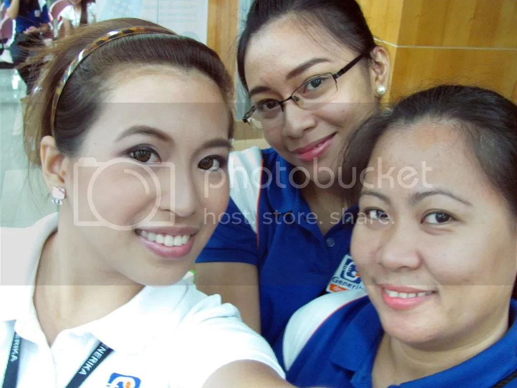 With Niane and Hazel. My skin's so fair here.