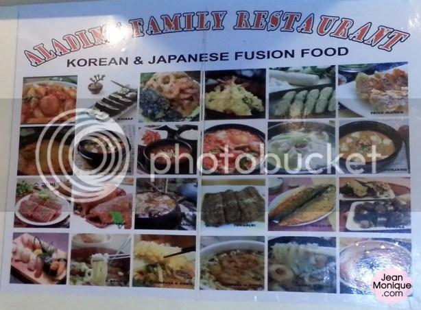 Aladin Family Restaurant (Korean & Japanese Fusion Food)
