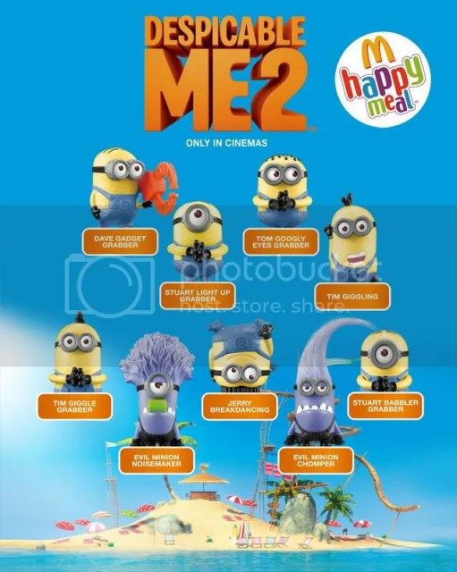 Despicable Me 2 Toys at McDonald's Philippines Happy Meal