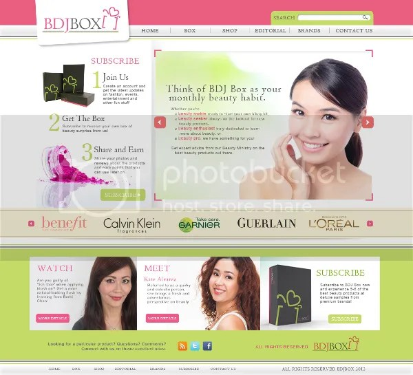 BDJ Box Home Page