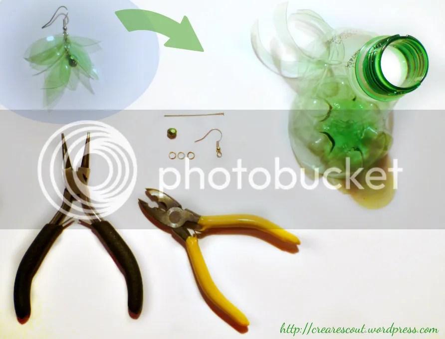 materiale per orecchini riciclati