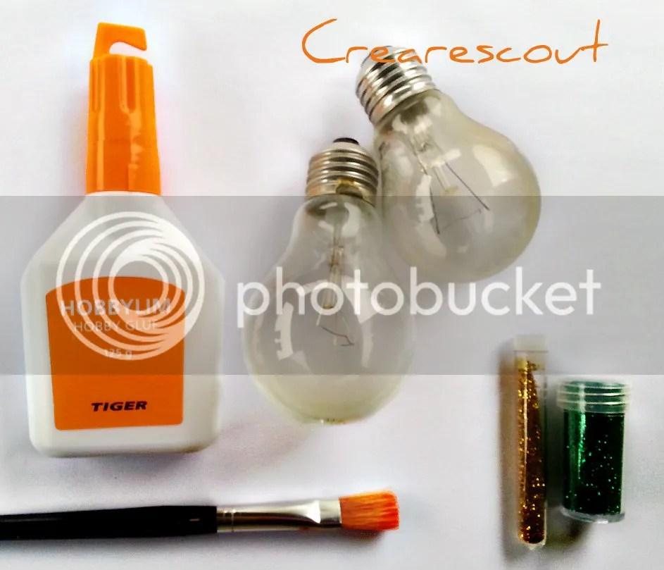 materiale lampadine glitter natale