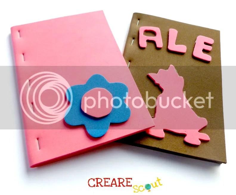 quaderni rosa marrone lupetto