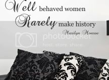 Marilyn Monroe Quote Wall Sticker - Well Behaved Women ...