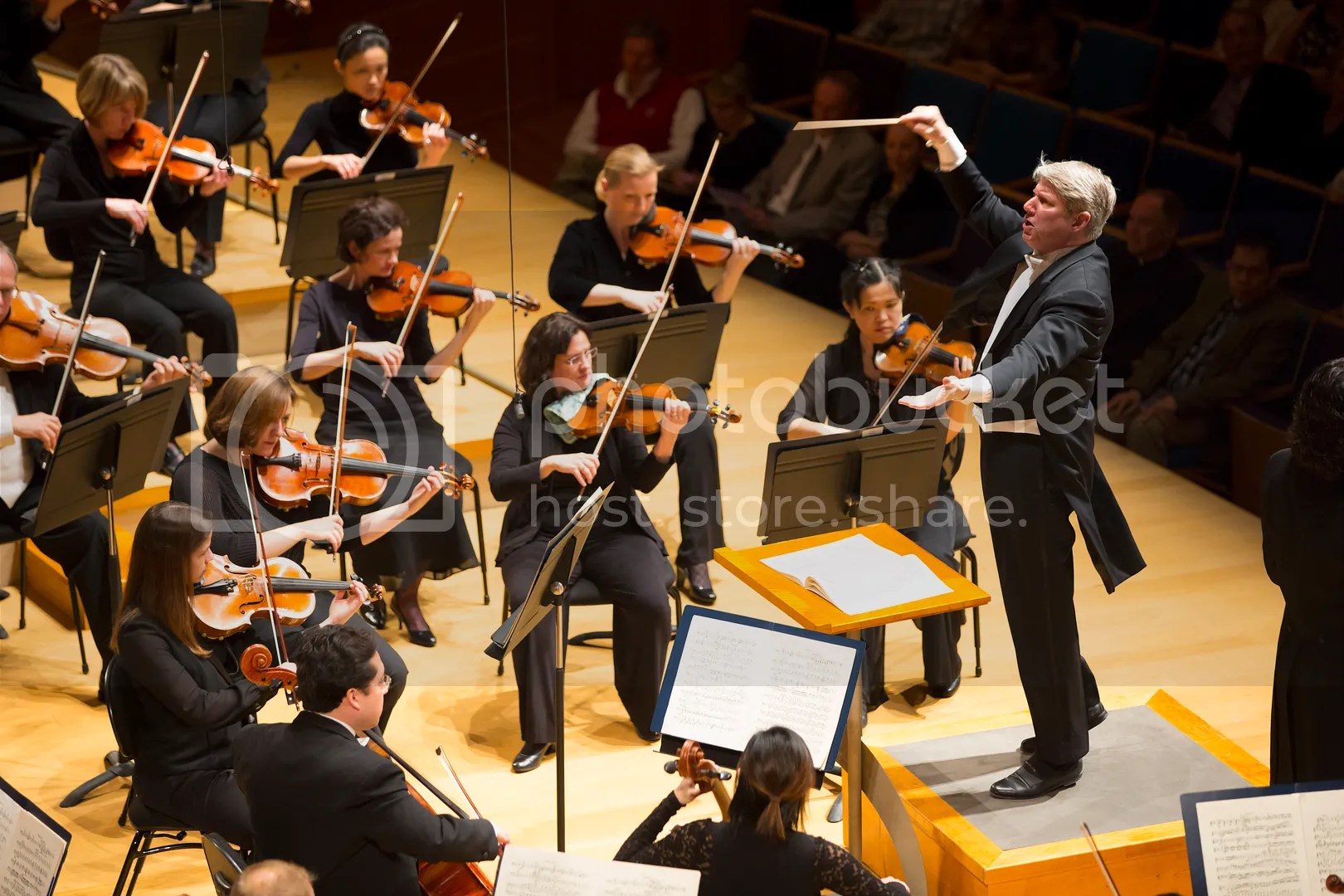 Conductor Michael Stern leads the Symphony