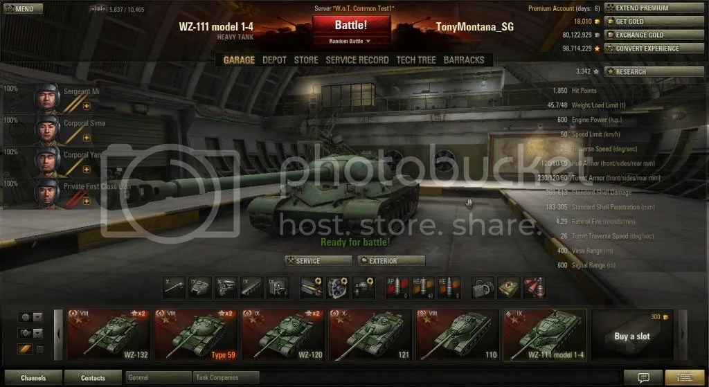 WZ111 model 14 t9 Chinese Heavy Tank  82 Archive  World of Tanks official Asia Forums