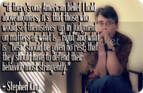 Stephen King Quote - Censorship