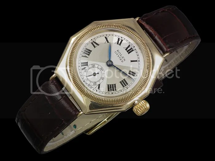 Rolex Oyster Octagonal 9ct gold vintage watch - 1930s