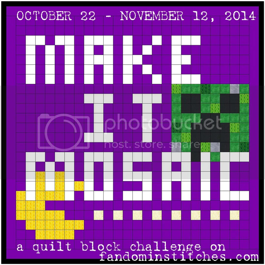 Make It Mosaic quilt block challenge on fandominstitches.com photo makeitmosaic_zps6c1e54e9.jpg