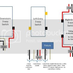 Wiring Diagram For 4 Way Switch Help With Ge Jasco Light Switches Connected 93 Chevy Diagrams Leviton Manual E Books Multiple Lights Imagesway Images
