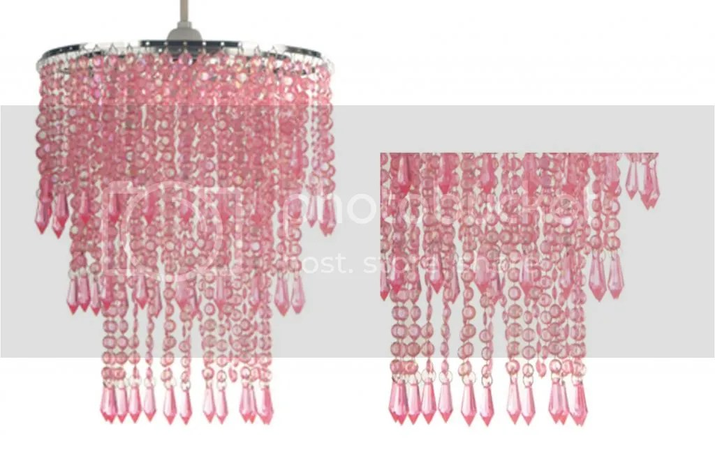 Ceiling Light Lamp Shade Pink Beaded Chandelier Small 3