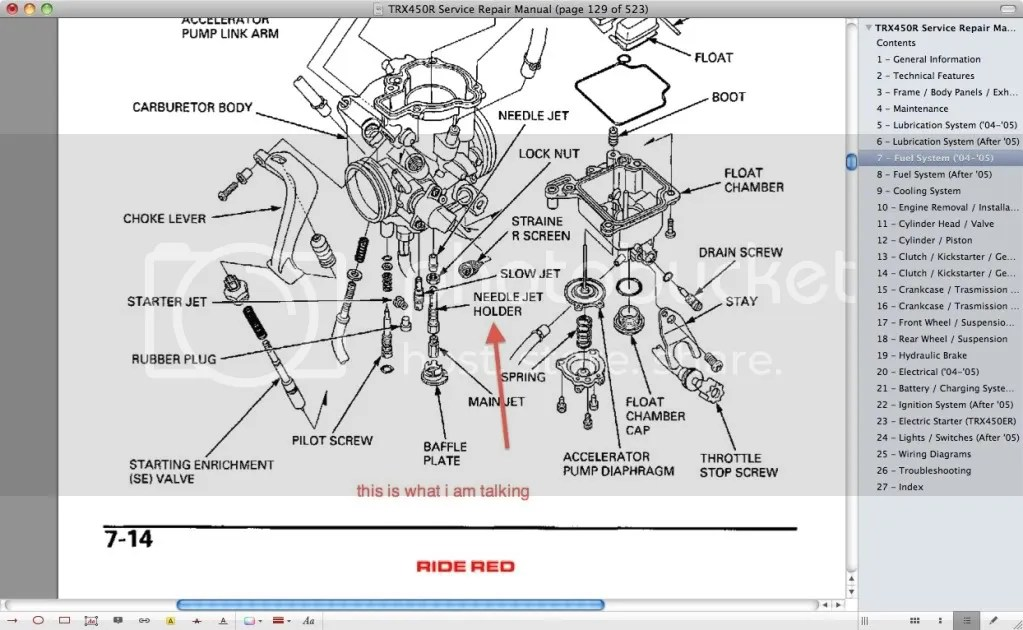 2004 Honda 400ex Wiring Diagram 250X Carb Diagram • Wiring