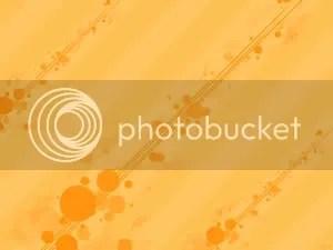 orange circle - PowerPoint Background