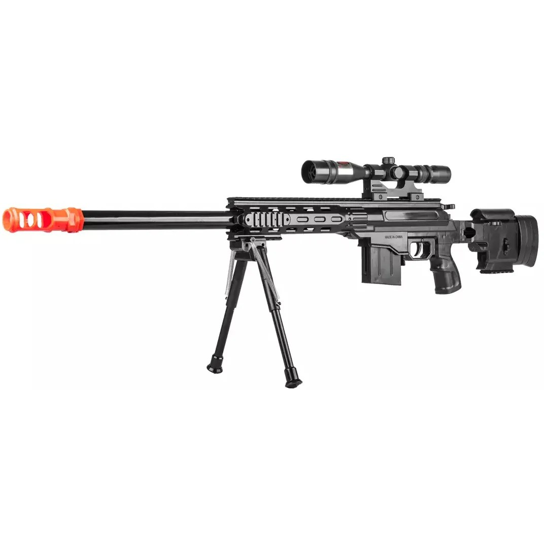 Ukarms Airsoft Tactical Spring Sniper Rifle Gun W Laser