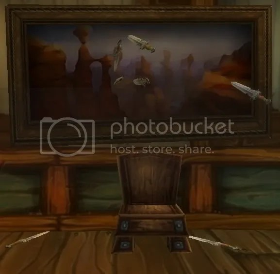 I dont know whats worse. The poor attempt at impressionism, or the knife throwers aim.