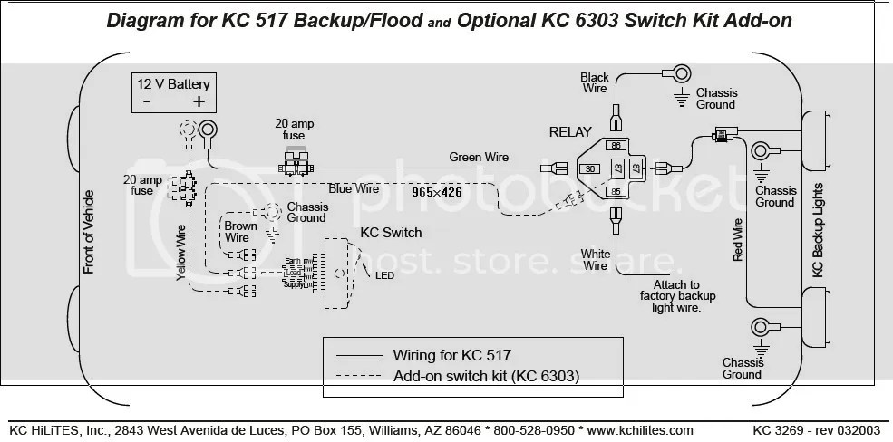 REVERSE LIGHT WIRING kc daylighter wiring diagram efcaviation com kc hilites wiring diagram at n-0.co