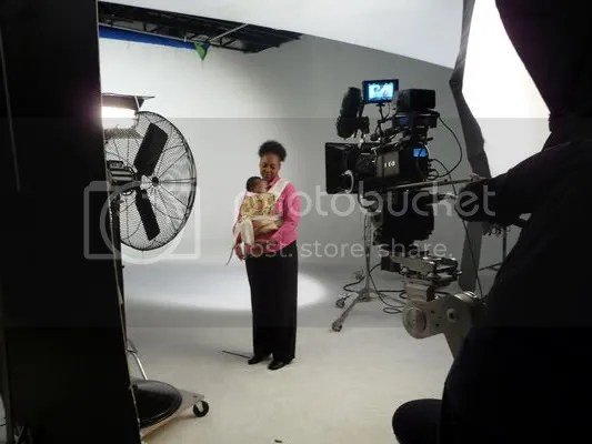 LJ and Imani on the set