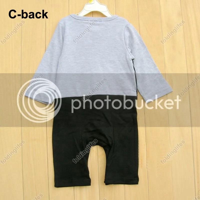 Baby Kids Toddler Boys Gentleman Bodysuit Jumpsuit Romper