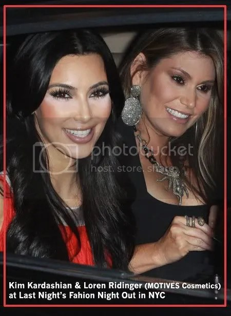 Loren and Kim Kardashian