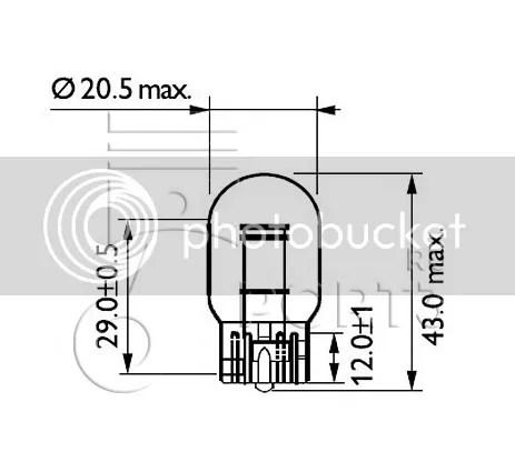10pc Philips OEM T20 7440 12065CP factory globe bulb brake