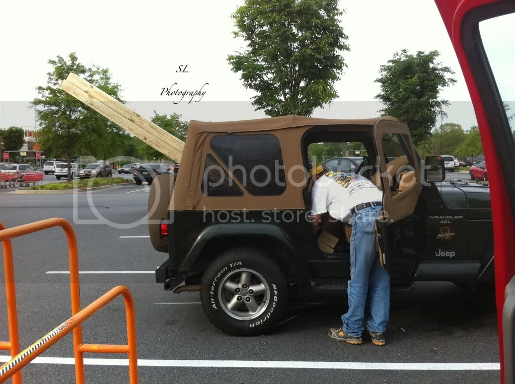 Securing items in a Jeep