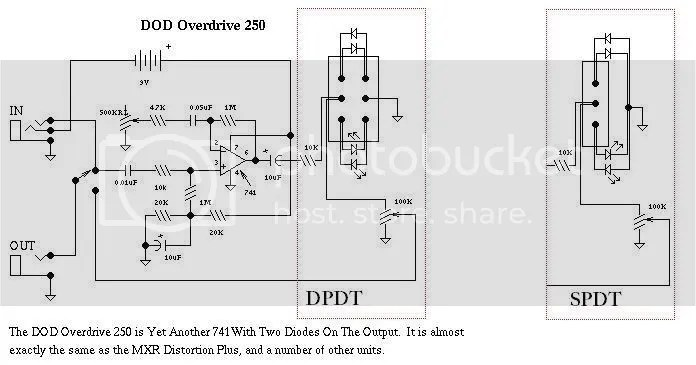 Using a SPDT Switch to wire diode/LED clipping?