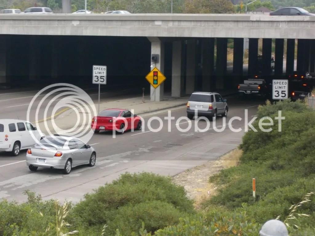 Cars on Fairmont going beneath underpass