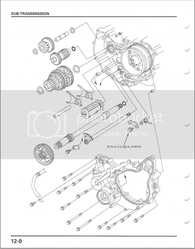2001 Honda Rubicon Transmission Parts Diagram. Honda. Auto