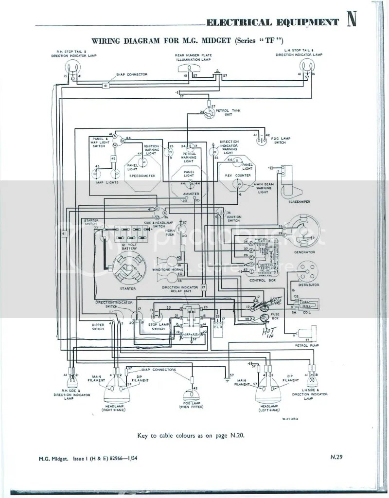 mg tf electrical wiring diagram 1999 ford ranger xlt radio need samples of wiper shaft grommet : t-series & prewar forum experience forums the ...