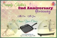 Simply Tadka's 2nd Blogiversary Event & Giveaway
