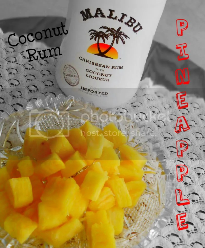 Coconut rum soaked pineapple tidbits | DIY Beach Party Ideas For Your Beach-Themed Celebration