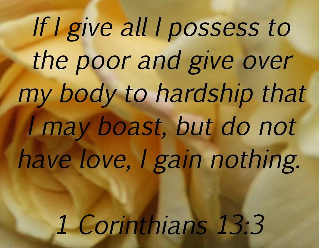 God's Growing Garden: VERSE by VERSE - 1 Corinthians 13:3