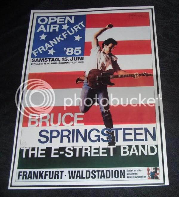 Bruce Springsteen-frankfurt Open Air 1985 Concert Poster