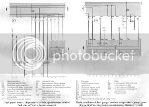 19TD 1997 T4 wiring diagram (oil pressure sensors)  VW